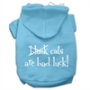 Mirage Pet Products Black Cats are Bad Luck Screen Print Pet Hoodies Baby Blue Size XS (8)