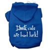 Mirage Pet Products Black Cats are Bad Luck Screen Print Pet Hoodies Blue Size S (10)