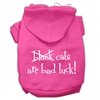 Mirage Pet Products Black Cats are Bad Luck Screen Print Pet Hoodies Bright Pink Size XXXL(20)