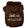 Mirage Pet Products Black Cats are Bad Luck Screen Print Pet Hoodies Brown Size XS (8)