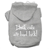 Mirage Pet Products Black Cats are Bad Luck Screen Print Pet Hoodies Grey Size XXXL(20)