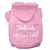 Mirage Pet Products Black Cats are Bad Luck Screen Print Pet Hoodies Light Pink Size XL (16)