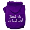 Mirage Pet Products Black Cats are Bad Luck Screen Print Pet Hoodies Purple Size L (14)