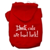 Mirage Pet Products Black Cats are Bad Luck Screen Print Pet Hoodies Red Size S (10)