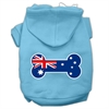 Mirage Pet Products Bone Shaped Australian Flag Screen Print Pet Hoodies Baby Blue XXXL(20)