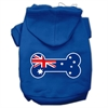 Mirage Pet Products Bone Shaped Australian Flag Screen Print Pet Hoodies Blue Size Med (12)