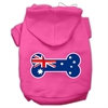 Mirage Pet Products Bone Shaped Australian Flag Screen Print Pet Hoodies Bright Pink Size XXXL(20)