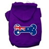 Mirage Pet Products Bone Shaped Australian Flag Screen Print Pet Hoodies Purple XXXL(20)