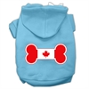 Mirage Pet Products Bone Shaped Canadian Flag Screen Print Pet Hoodies Baby Blue XXXL(20)
