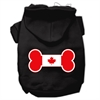 Mirage Pet Products Bone Shaped Canadian Flag Screen Print Pet Hoodies Black L (14)