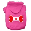 Mirage Pet Products Bone Shaped Canadian Flag Screen Print Pet Hoodies Bright Pink XS (8)