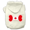 Mirage Pet Products Bone Shaped Canadian Flag Screen Print Pet Hoodies Cream XXXL(20)