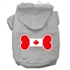Mirage Pet Products Bone Shaped Canadian Flag Screen Print Pet Hoodies Grey XXXL(20)
