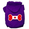 Mirage Pet Products Bone Shaped Canadian Flag Screen Print Pet Hoodies Purple S (10)
