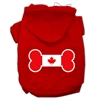 Mirage Pet Products Bone Shaped Canadian Flag Screen Print Pet Hoodies Red S (10)