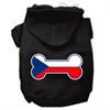 Mirage Pet Products Bone Shaped Czech Republic Flag Screen Print Pet Hoodies Black XS (8)
