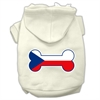 Mirage Pet Products Bone Shaped Czech Republic Flag Screen Print Pet Hoodies Cream XXXL(20)