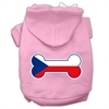 Mirage Pet Products Bone Shaped Czech Republic Flag Screen Print Pet Hoodies Light Pink Size M (12)