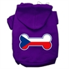 Mirage Pet Products Bone Shaped Czech Republic Flag Screen Print Pet Hoodies Purple XXXL(20)