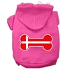 Mirage Pet Products Bone Shaped Denmark Flag Screen Print Pet Hoodies Bright Pink Size XS (8)