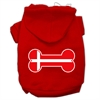 Mirage Pet Products Bone Shaped Denmark Flag Screen Print Pet Hoodies Red Size XS (8)