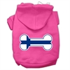 Mirage Pet Products Bone Shaped Finland Flag Screen Print Pet Hoodies Bright Pink Size S (10)