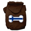 Mirage Pet Products Bone Shaped Finland Flag Screen Print Pet Hoodies Brown XXXL(20)
