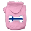 Mirage Pet Products Bone Shaped Finland Flag Screen Print Pet Hoodies Light Pink Size XXXL(20)