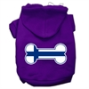 Mirage Pet Products Bone Shaped Finland Flag Screen Print Pet Hoodies Purple XXXL(20)