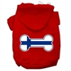 Mirage Pet Products Bone Shaped Finland Flag Screen Print Pet Hoodies Red XS (8)