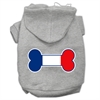 Mirage Pet Products Bone Shaped France Flag Screen Print Pet Hoodies Grey XXL (18)