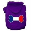 Mirage Pet Products Bone Shaped France Flag Screen Print Pet Hoodies Purple Size XXXL(20)