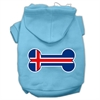 Mirage Pet Products Bone Shaped Iceland Flag Screen Print Pet Hoodies Baby Blue XXXL(20)