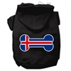 Mirage Pet Products Bone Shaped Iceland Flag Screen Print Pet Hoodies Black L (14)