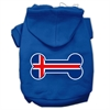 Mirage Pet Products Bone Shaped Iceland Flag Screen Print Pet Hoodies Blue XS (8)
