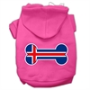 Mirage Pet Products Bone Shaped Iceland Flag Screen Print Pet Hoodies Bright Pink Size XXXL(20)