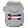 Mirage Pet Products Bone Shaped Iceland Flag Screen Print Pet Hoodies Grey XS (8)