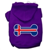 Mirage Pet Products Bone Shaped Iceland Flag Screen Print Pet Hoodies Purple Size XXXL(20)