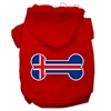 Mirage Pet Products Bone Shaped Iceland Flag Screen Print Pet Hoodies Red Size S (10)