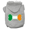 Mirage Pet Products Bone Flag Ireland Screen Print Pet Hoodies Grey Size XL (16)