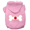 Mirage Pet Products Bone Shaped Japan Flag Screen Print Pet Hoodies Light Pink Size XXXL(20)