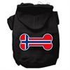 Mirage Pet Products Bone Shaped Norway Flag Screen Print Pet Hoodies Black L (14)