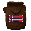 Mirage Pet Products Bone Shaped Norway Flag Screen Print Pet Hoodies Brown XS (8)