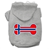 Mirage Pet Products Bone Shaped Norway Flag Screen Print Pet Hoodies Grey XXXL(20)