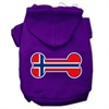 Mirage Pet Products Bone Shaped Norway Flag Screen Print Pet Hoodies Purple Size S (10)