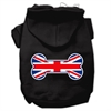 Mirage Pet Products Bone Shaped United Kingdom (Union Jack) Flag Screen Print Pet Hoodies Black Size XS (8)