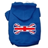 Mirage Pet Products Bone Shaped United Kingdom (Union Jack) Flag Screen Print Pet Hoodies Blue Size Med (12)