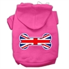 Mirage Pet Products Bone Shaped United Kingdom (Union Jack) Flag Screen Print Pet Hoodies Bright Pink S (10)