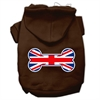 Mirage Pet Products Bone Shaped United Kingdom (Union Jack) Flag Screen Print Pet Hoodies Brown Size Sm (10)