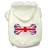 Mirage Pet Products Bone Shaped United Kingdom (Union Jack) Flag Screen Print Pet Hoodies Cream Size XS (8)